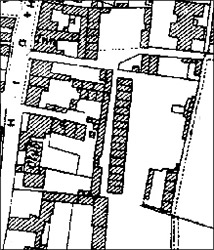 1928 Ordnance Survey map of Piggot's Lane and Duke Street
