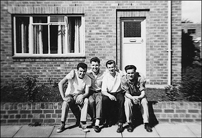 Group outside no.18 Elm Road in the late 1950s