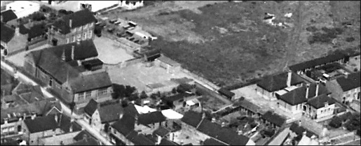 An aerial view of Burton Latimer Junior and Infant Schools in 1950