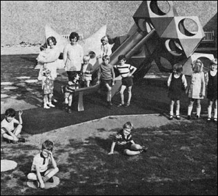 Children with play apparatus at The Paddocks play area