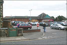 Budgens Supermarket now occupies the old farm and garage site
