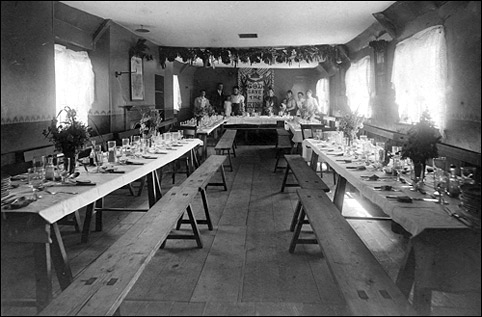 Photograph showing a meal in clebration of the coronation of Edward VII