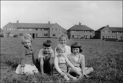 Children on The Green at The Crescent in c.1956