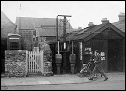 1960's view of Charlie Ward's garage on Burton Latimer High Street