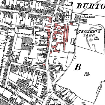 The southern section of Burton Latimer High Street in about 1920