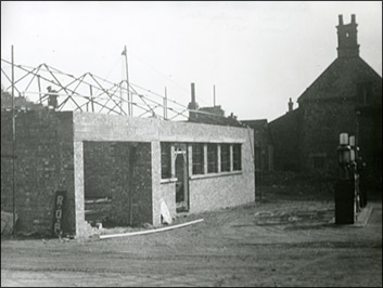 The workshops for Mason's Garage being built c.1950