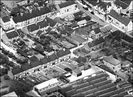 1950s aerial view of Pigott's Lane and the High Street end of Duke Street