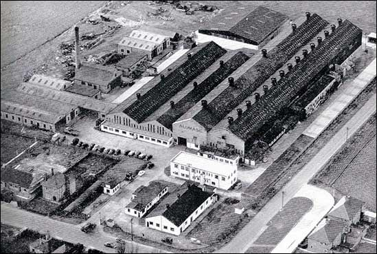 A 1959 Aerial view of the Alumasc factory in Burton Latimer