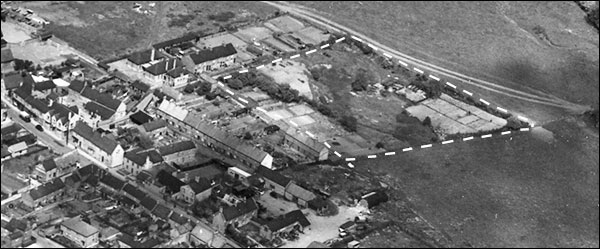 The former brickyard in 1950 showing the smallholding that now occupies most of the site.