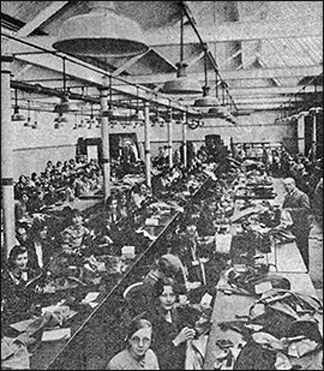 Photograph showing the workrooms in Mill Road Wellingborough