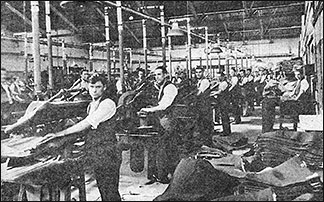 Photograph showing part of the Pressing Room, Wellingborough