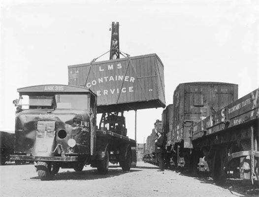 Container loading at Euston