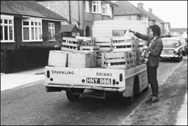 Photograph taken in 1973 of the weekly delivery of She drinks in Whitney Road.