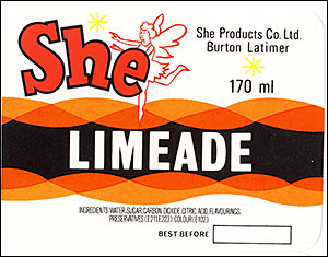 "Picture of the She""Limeade"" bottle label."