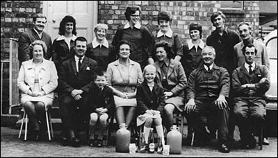 Photograph of the She Products Family and Staff taken in 1971.