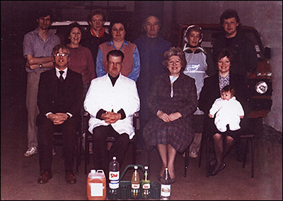 Photograph of the She Products Family and Staff taken in 1991.