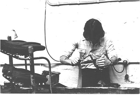 Photograph of Robert Pearce at work