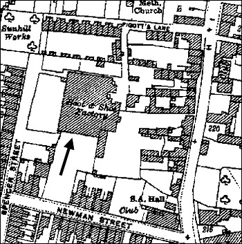 Map showing site of Coles Boot Co 1928