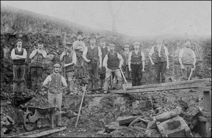 Ironstone workers at an unidentified location near Burton Latimer