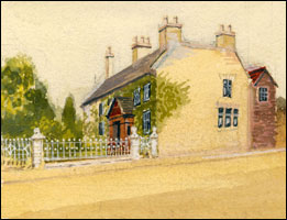 The Yews, Kettering Road, painted in 1914