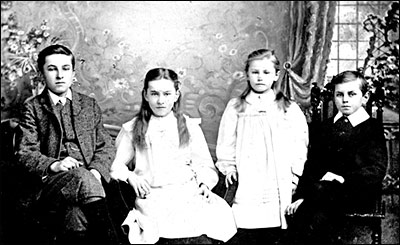 The Attfield children. Frank, Mary, Ellen and William c1907