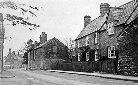 The two farm houses lived in by the Attfield brothers c 1950.