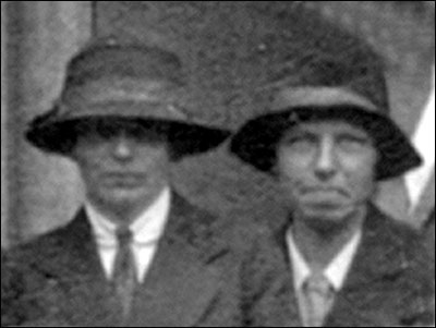 "Nurse Brooks, the ""Mother of Burton"" pictured on right with colleague in 1926."