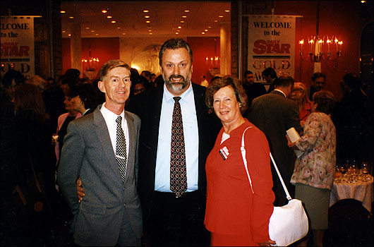 Rob & Pam Mills with Geoff Capes