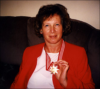 Pam Mills and her Daily Star Gold Star