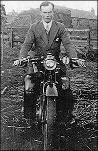 A 1930's photograph of Edgar Denton on his motorbike