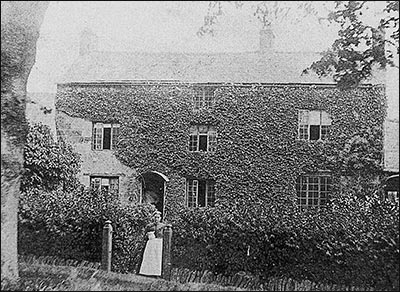 Fern Bank, the last residence of Miss Harper, as it was c1888. Hannah Williamson, Miss Harper's housekeeper, is pictured in the foreground.