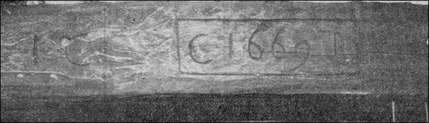 An original beam with the date 1669 carved into it.The initials may be those of the first owners of the house.
