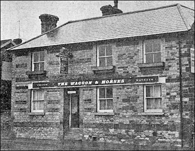Photograph of the Waggon & Horses public house for sale, 1976.