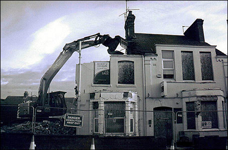 The Rack being demolished in March 2013