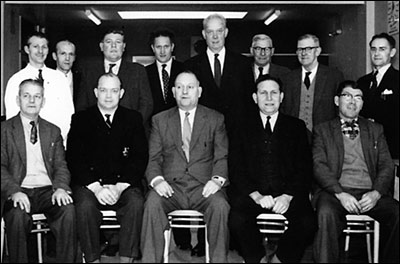 Photograph of The Rack Committee taken in November 1962.