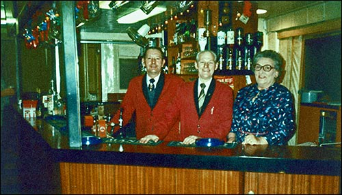 Steward John Willetts pictured with wife Frances and brother-in-law Jimmy O'Neil.