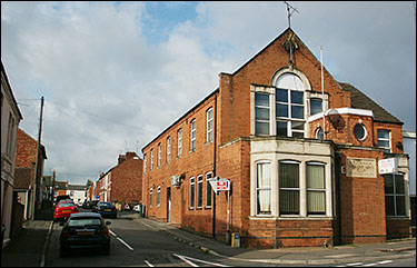 Modern photograph of The Britannia showing the bricked up frontage.