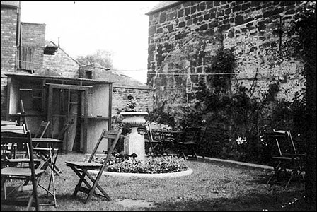 The Dukes Arms beer garden in the 1930s