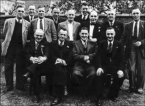 Photograph of The Band Club Committee taken about 1940.