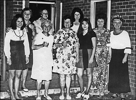 Photograph of Band Club Ladies Skittle Team taken about 1970.