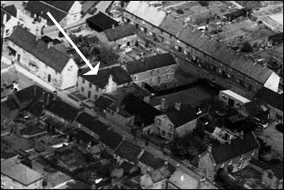 Aerial Photograph taken in 1950 depicting the premises then occupied by The Band Club.
