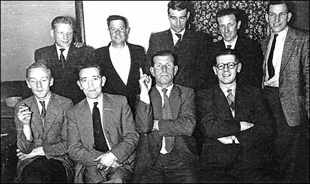 Photograph of The Dukes Arms Darts Team c1959.