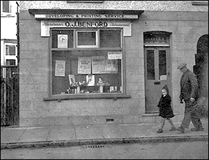 The hairdressers at 20 Duke Street owned by O J (Jack) Benford