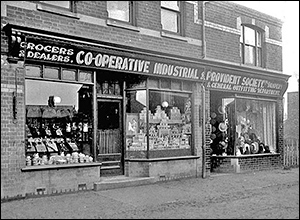 Burton Latimer Co-operatives Society's first store in Duke Street openeed in 1891