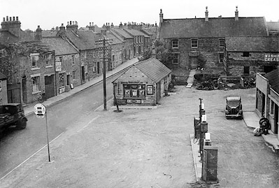 Mason's Garage, buildings and forecourt in 1947