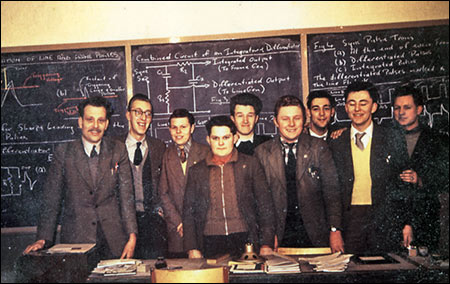 John Langley (6th from left) pictured with his fellow students at Wellingborough Technical College in 1959