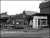 The Piggotts Lane branch of the Burton Latimer Co-operative Society in the course of demolition