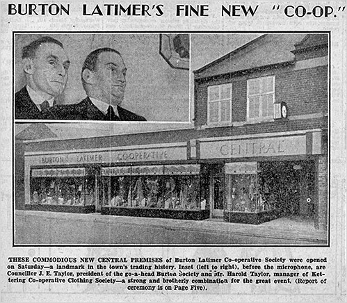 Newspaper report of the Central Stores opening in 1936