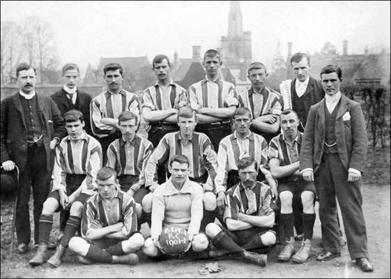 Burton Latimer Church Institute Football Team 1901-2