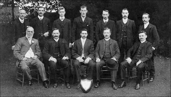 Burton Latimer Church Institute Whist Team 1907-08